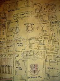 Harry Potter Map Inside Hogwarts Castle Map