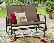 front porch furniture glider bench patio outdoor 2 seat sling all