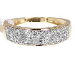 gold diamond band 10k yellow gold mens diamond pave wedding band ring 0 40ct