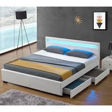 Schlafzimmer Betten Mit Bettkasten Polsterbett Lyon Mit Bettkasten 140 X 200 Cm Weiß Juskys