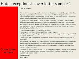 ideas of how to write a cover letter for hotel receptionist