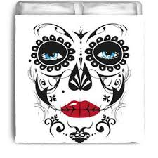 Day Of The Dead Bedding Goth Shopaholic Cheerfully Macabre Bedding From Skull Bedding Shop