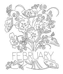 flower of the month vintage flower of the month transfers q is for quilter