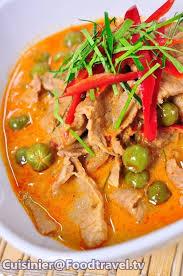 recett de cuisine พะแนงหม dishes thaï et cuisines