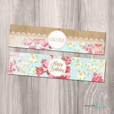 shabby chic water bottle labels shabby chic diy water bottle