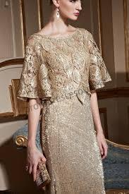 prom dresses online gold half sleeves sparkly sequins mermaid