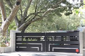 automatic ornamental iron driveway gates contemporary entry