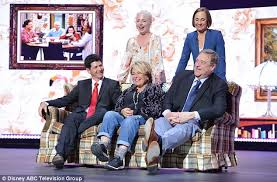 new look for roseanne barr 2015 with blonde hair roseanne cast reunite at abc upfronts at lincoln center daily mail