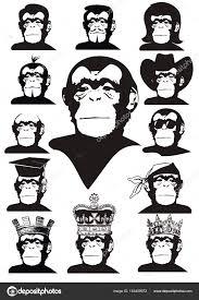 vector drawing of a monkey u2014 stock vector kassim1964 163409972