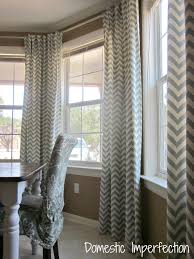 dining room curtain diy bay window curtain rod back tab curtains domestic imperfection