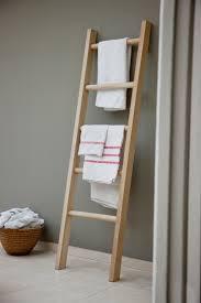 Diy Leaning Ladder Bathroom Shelf by Bathroom Ladder Towel Rack Diy Light Bath Bar Glass Bathroom