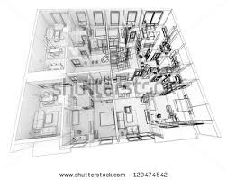 apartments level top view building design stock illustration