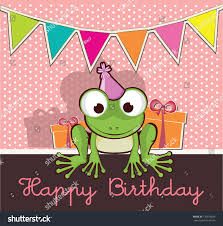 Invitation Card Birthday Invitation Card Birthday Party Cute Frog Stock Vector 130075646