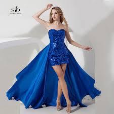 prom graduation dresses cheap detachable party dresses royal blue