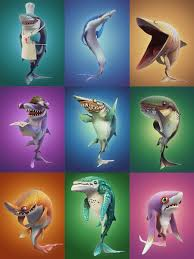 Hungry Shark Map Hungry Shark World Character Renders On Behance Totoro Pinterest