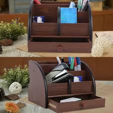Desk Organizer Shelves Behogar Wooden Multi Functional Office Desk Organizer Storage Box