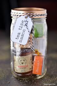 this tea time mason jar gifts is a fun homemade christmas gift