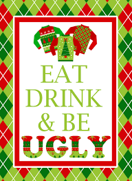 ugly sweater party free printables lillian hope designs