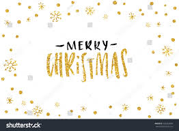 pretty merry card template gold stock vector 524262694