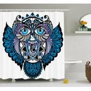 Owl Fabric Shower Curtain Owl Shower Curtains