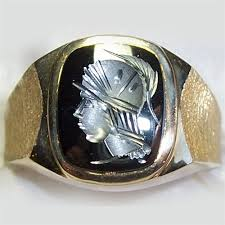 men vintage rings images Men 39 s hematite intaglio ring jpg