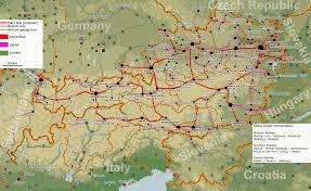 Map Austria Railway Map Of Austria Railroadforums Com