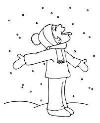 funny kid tasting snow winter coloring download u0026 print