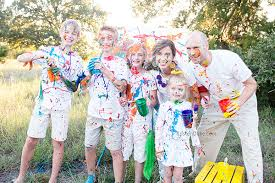 paint fight family pictures our christmas card