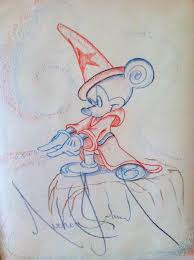 charitybuzz fantasia wizard mickey mouse original drawing