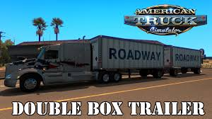 truck pack v1 5 american truck simulator mods ats mods ats mods double box trailer youtube