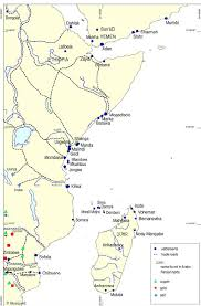 East Africa Map East Africa The Comoros Islands And Madagascar Before The