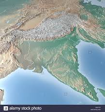 Himalayas On World Map by Map Of India And Himalayas Mountains Stock Photo Royalty Free