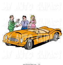 classic cars clip art clip art of a suave car salesman giving a customer the keys to an