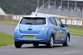nissan leaf nismo rc nissan leaf sets record lap time of goodwood hill climb going