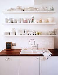 Shelf Above Kitchen Sink by Trend Floating Shelves In The Kitchen La La Lovely