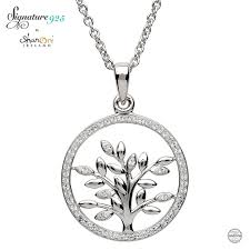 swarovski jewelry necklace images Tree of life silver pendant adorned with swarovski crystal jpg