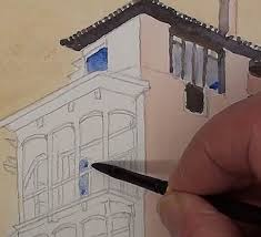 paint the house how to paint a house on a cliff edge in watercolor online art