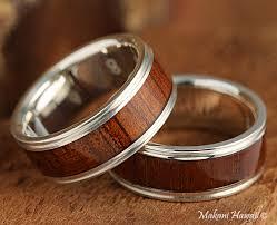 silver wood rings images 8mm natural hawaiian koa wood inlaid 925 sterling silver flat jpg
