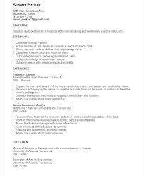 financial resume exles financial services resume al advisor resume sle template