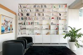 contemporary bookcase mdf lacquered mdf infinity fitting