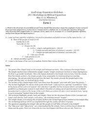 Irony Worksheet Small Group Preparation Worksheet Ezra 2 Book Of Exodus