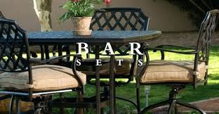Bar Height Patio Set With Swivel Chairs Bar Height Patio Table And Chairs Patio High Top Patio Table