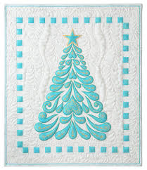how to quilt the feathered christmas quilt machine embroidered