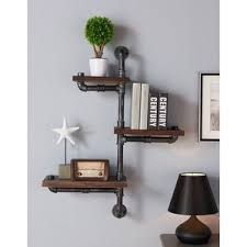 Wall To Wall Bookcases Walnut Wall U0026 Display Shelves You U0027ll Love Wayfair