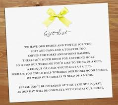 Wedding Gift Cash Wedding Invitation Wording No Gifts But Money Popular Wedding