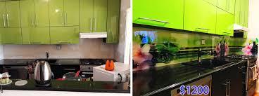 solid glass kitchen backsplash production and installation glass kitchen backsplash with backprinted image