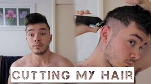 how to trim sides and back of hair cutting my hair mens short sides back medium top youtube