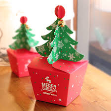 christmas boxes 50pcs lot merry christmas tree gift box cookie cholocate food