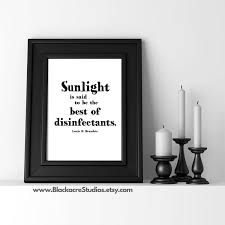 sunlight legal quote law office art law poster