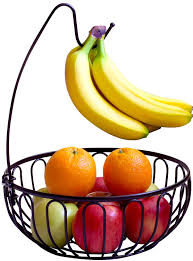 fruit holder decobros wire fruit tree bowl with banana hanger